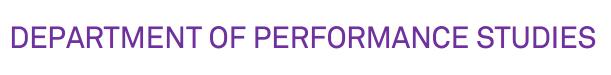PerformanceStudies